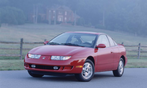 A 1997 Saturn SC2 Coupe